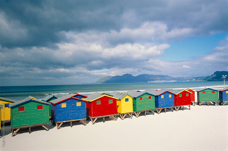 Muizenberg Beach Huts. South Africa by Hugh Sitton for Stocksy United