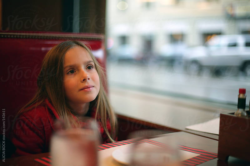 Girl At A Diner by ALICIA BOCK for Stocksy United