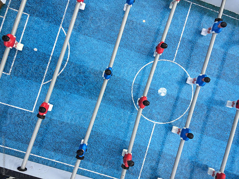 Table football game from above by kkgas for Stocksy United