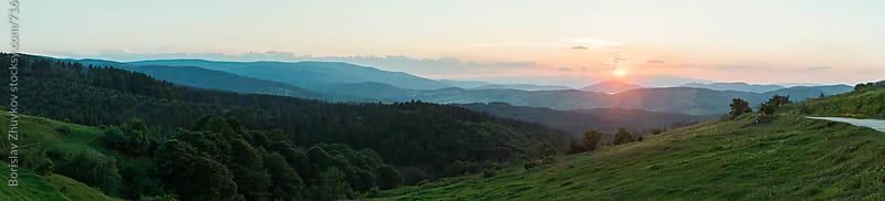 Mountain range panorama by Borislav Zhuykov for Stocksy United