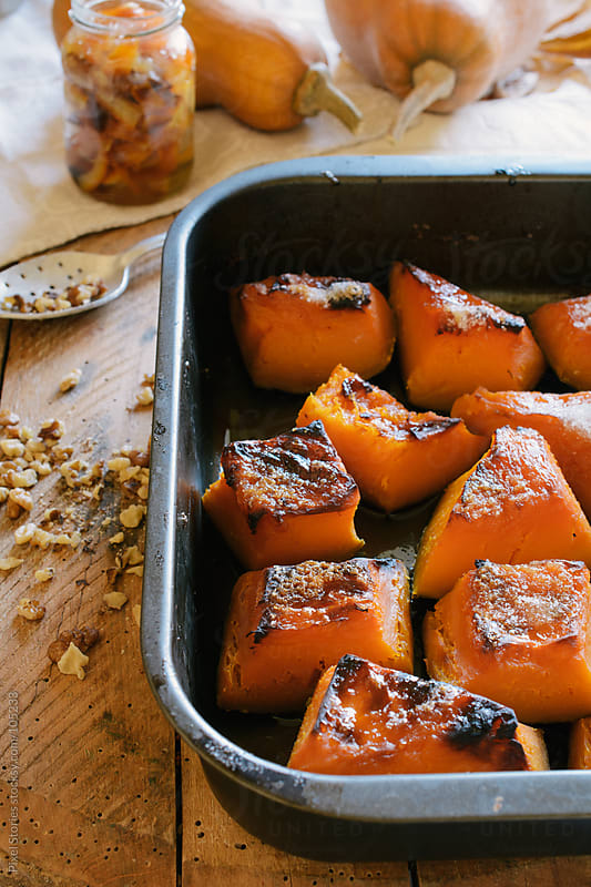 Roasted pumpkin by Pixel Stories for Stocksy United