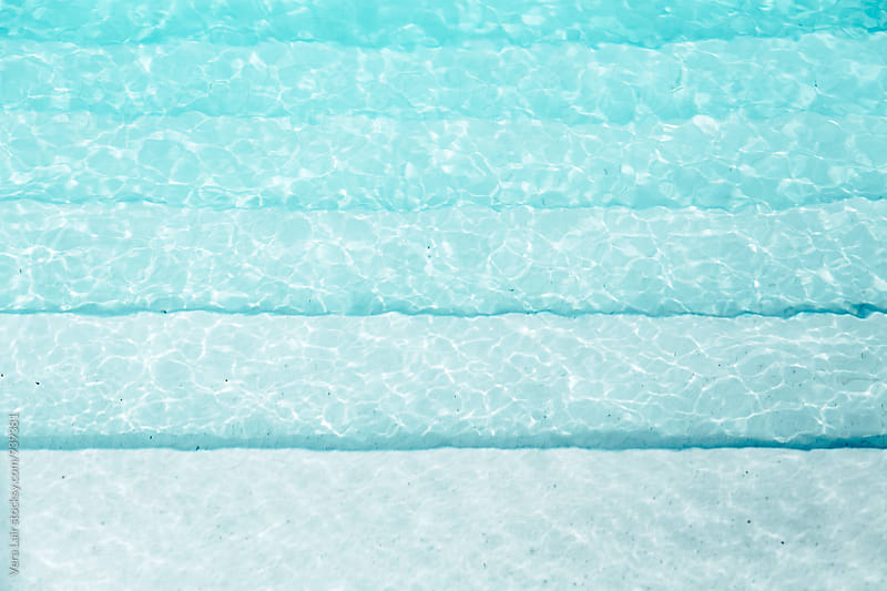 Swimming pool stairs by Vera Lair for Stocksy United