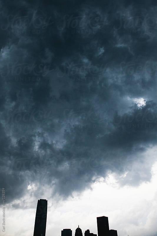 Skyscraper in Storm by Carl Zoch for Stocksy United