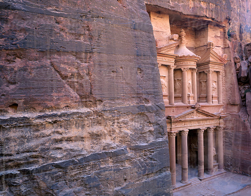 The Treasury at Petra. Jordan. by Hugh Sitton for Stocksy United
