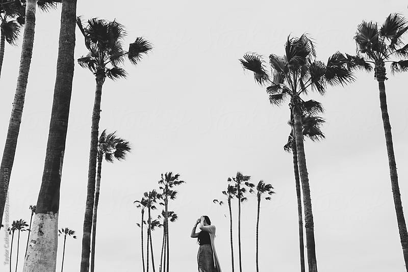 Lady and Palm Trees by Isaiah & Taylor Photography for Stocksy United
