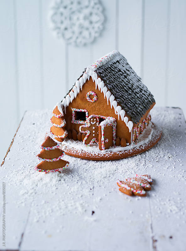 Gingerbread house by J.R. PHOTOGRAPHY for Stocksy United