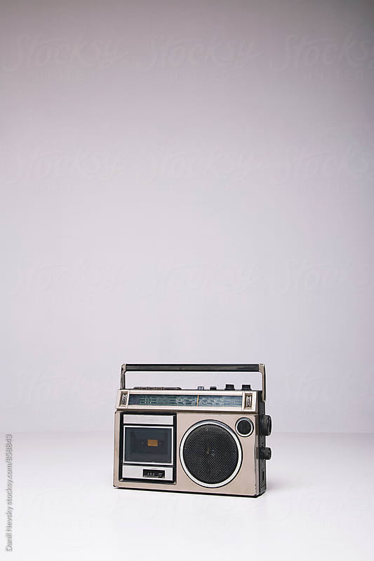 Vintage tape-recorder on white background by Danil Nevsky for Stocksy United
