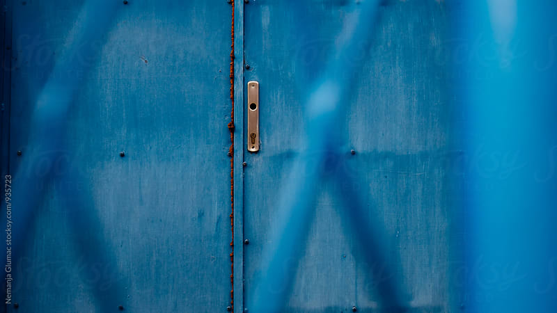 Blue Metal Door by Nemanja Glumac for Stocksy United