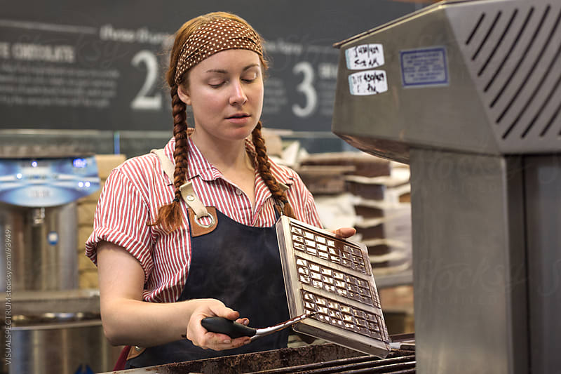 Woman Making Chocolate by Julien L. Balmer for Stocksy United