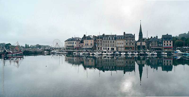 Honfleur harbour in Normandy, France by Ivan Bastien for Stocksy United