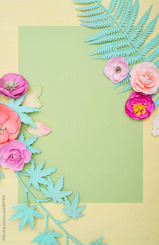 Pastel flowers background by Alita Ong for Stocksy United