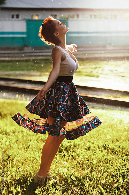 Girl Dancing by Milles Studio for Stocksy United