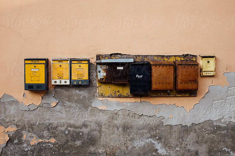 Old Rusty Mailboxes in Serbia by Nemanja Glumac for Stocksy United