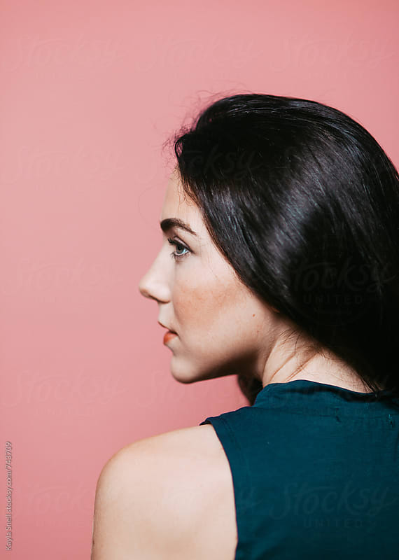 Side profile of a beautiful woman by Kayla Snell for Stocksy United