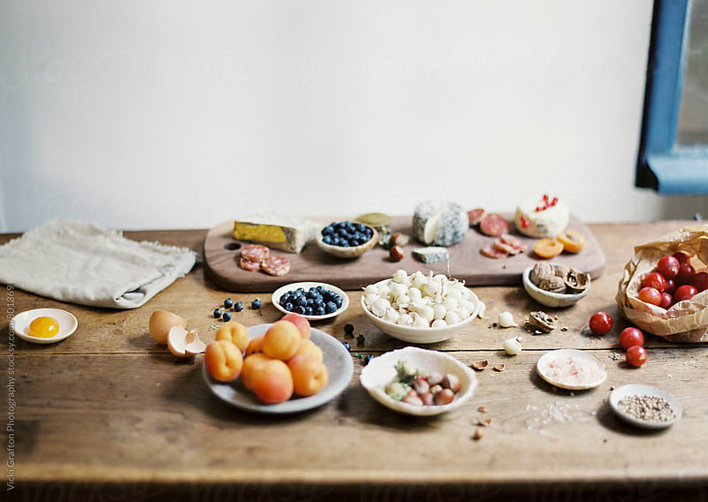 Food Preparation in French Kitchen  by Vicki Grafton Photography for Stocksy United