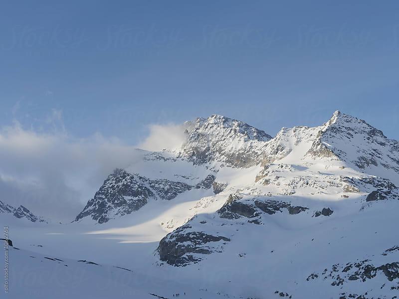 Mountain peak in sunlight by rolfo for Stocksy United