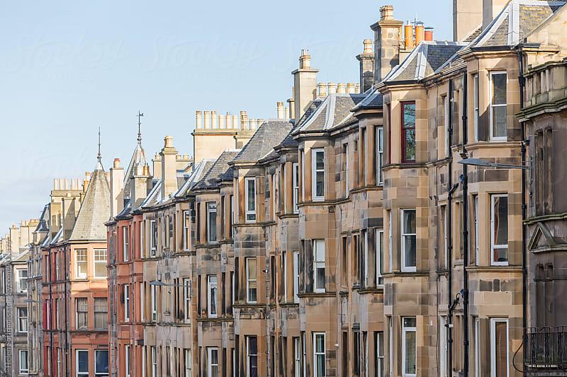 Row Houses in Edinburgh by Helen Sotiriadis for Stocksy United