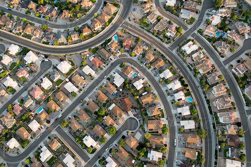 Ariel Photography of Albuquerque New Mexico Showing Urban Sprawl Subdivision Development Planning by JP Danko for Stocksy United