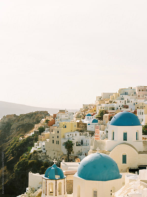 View of Oia in Santorini, Greece by Kirstin Mckee for Stocksy United