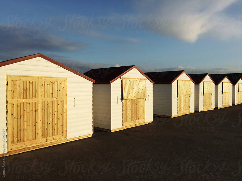 Beach huts by James Ross for Stocksy United