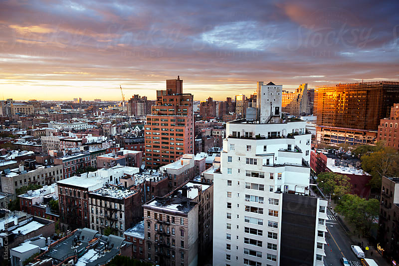 Winter Dusk at West Village Manhattan New-York by Eldad Carin for Stocksy United