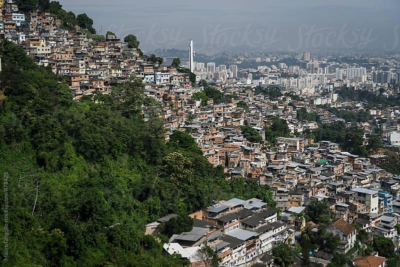 Favela in Rio de Janeiro, Brazil by Mauro Grigollo for Stocksy United