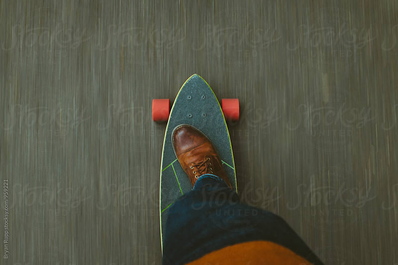 Moving Skateboard  by Bryan Rupp for Stocksy United