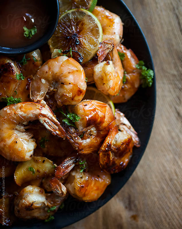 Honey Garlic Shrimp by Mental Art + Design for Stocksy United