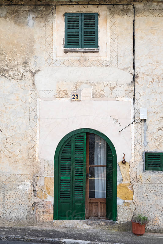 Facade of a rural mediterranean house by Marilar Irastorza for Stocksy United