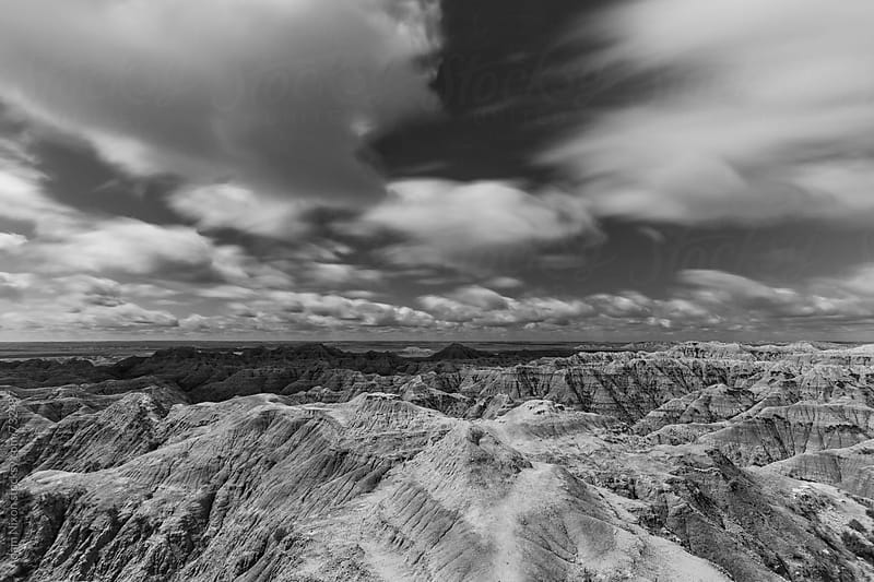 Vast landscape of Badlands South Dakota by Adam Nixon for Stocksy United
