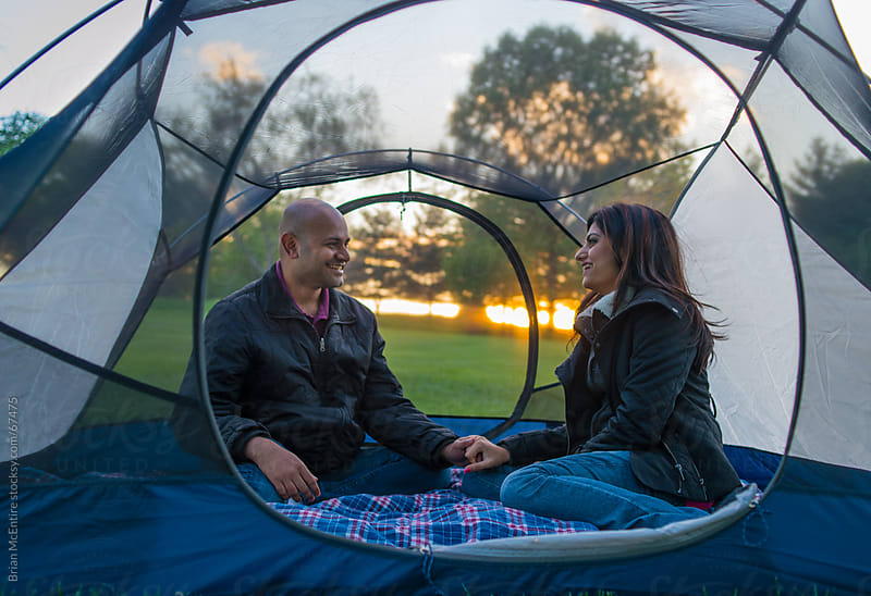 Camping: Adult Couple Enjoying Quiet Camping Trip Together by Brian McEntire for Stocksy United