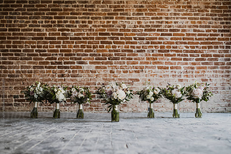 Bridesmaid Bouquets by Isaiah & Taylor Photography for Stocksy United
