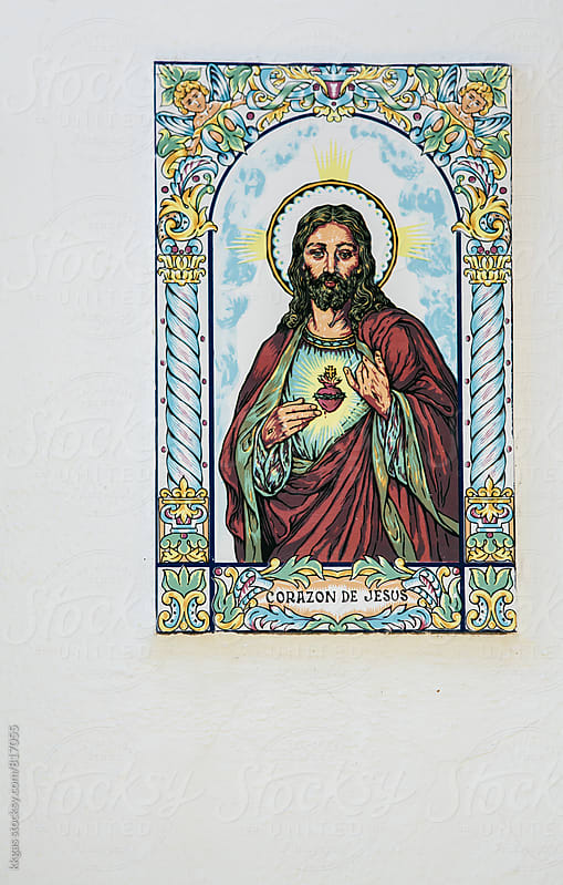 Ceramic Wall plaque of Christ by kkgas for Stocksy United