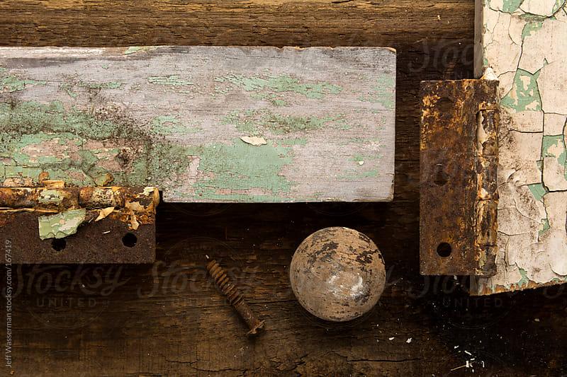 Overhead View of Vintage Door Parts by Jeff Wasserman for Stocksy United