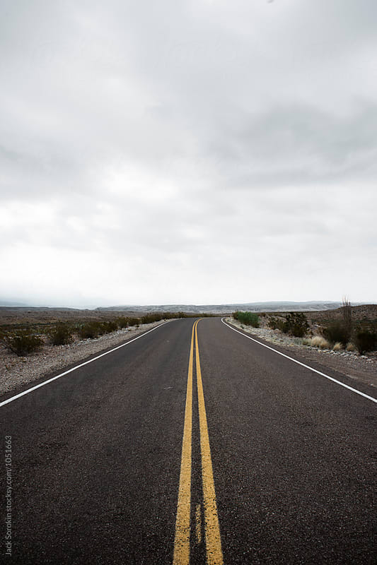 Empty Road In The Desert by Jack Sorokin for Stocksy United