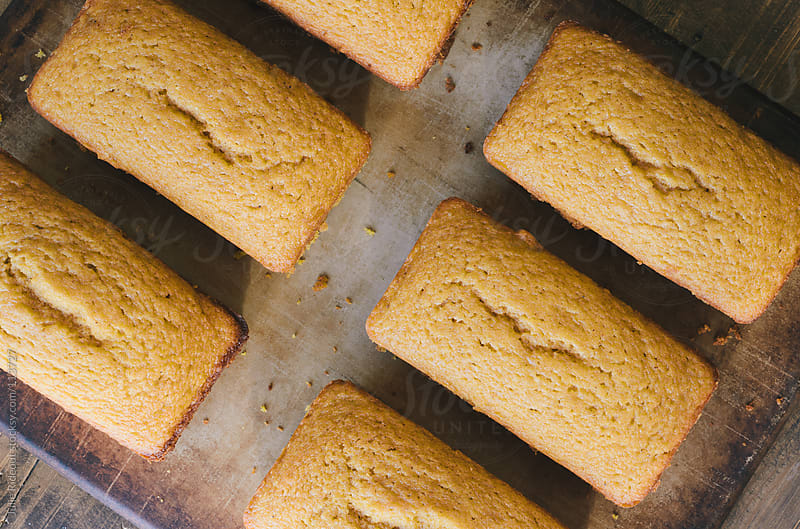 Loaves of Pumpkin Bread by Julie Rideout for Stocksy United