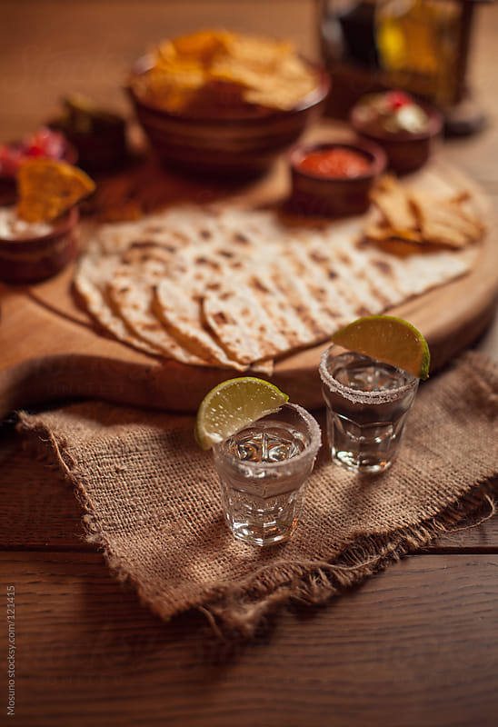 Tequila and Mexican Food  by Mosuno for Stocksy United