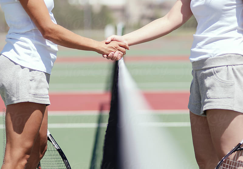 Handshake after tennis match. by W2 Photography for Stocksy United