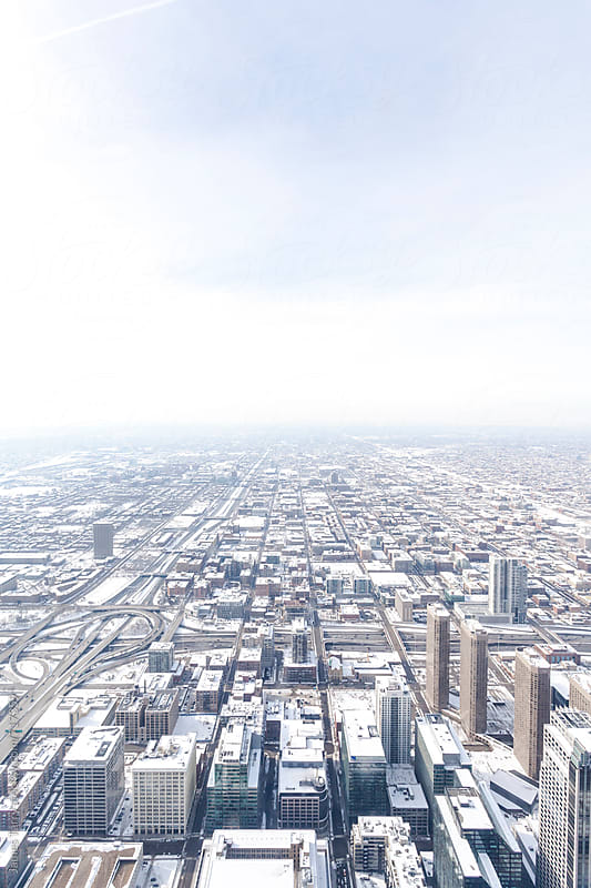 Chicago City in snow by James Tarry for Stocksy United