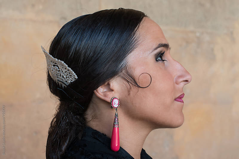 Profile of a flamenco dancer  by Bisual Studio for Stocksy United