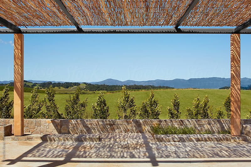 Outdoor event space in Napa Valley, California  by Trinette Reed for Stocksy United