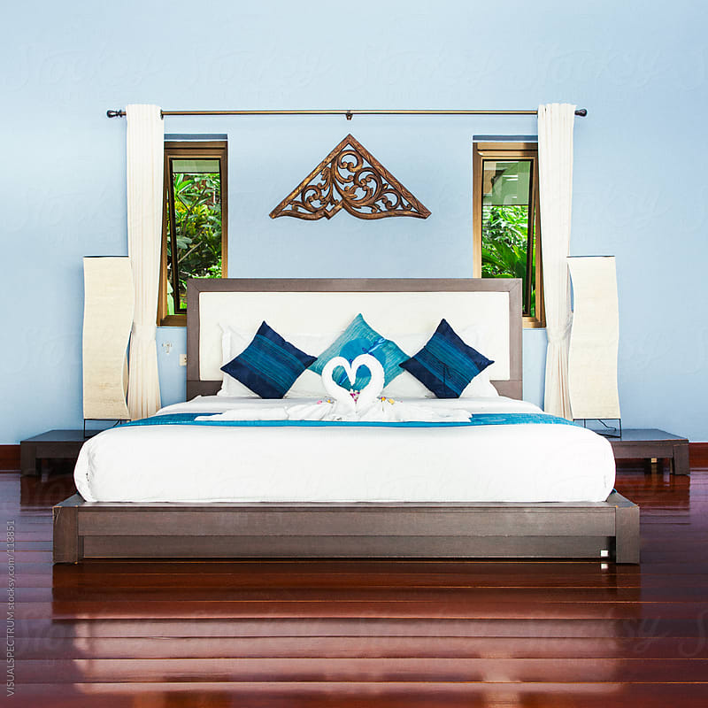 Hotel Bed in Thailand by VISUALSPECTRUM for Stocksy United