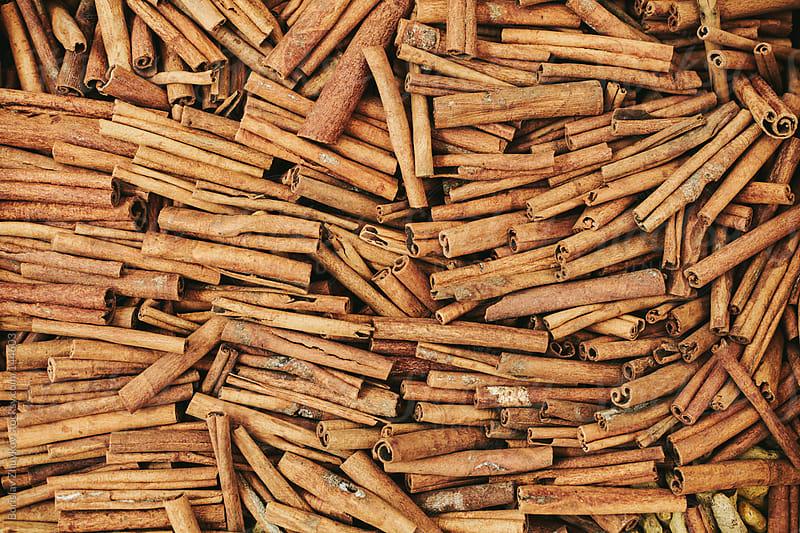 Cinnamon sticks on the market by Borislav Zhuykov for Stocksy United
