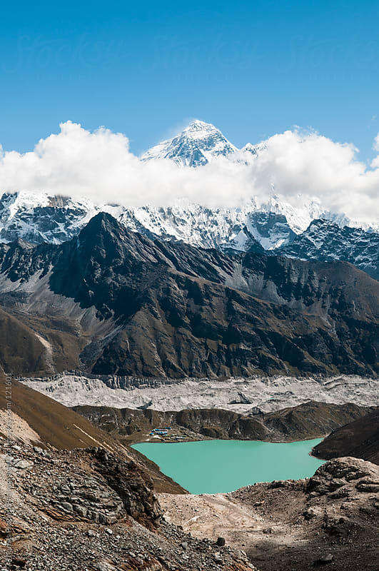 View from Gokyo Ri over Gokyo Lakes and Mt Everest, Everest Region, Sagarmatha National Park, Nepal. by Thomas Pickard for Stocksy United