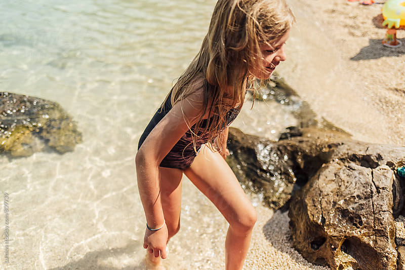 Happy Kid on the Beach by Lumina for Stocksy United