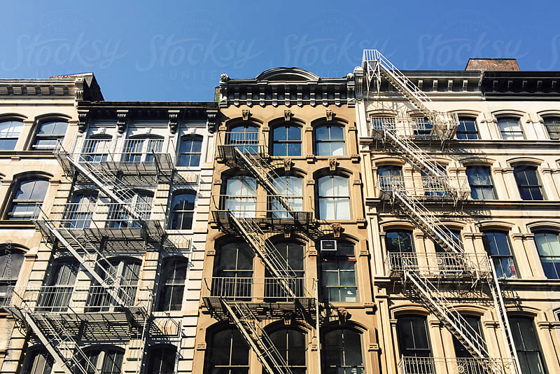 Apartment Buildings in New York by Stephen Morris for Stocksy United