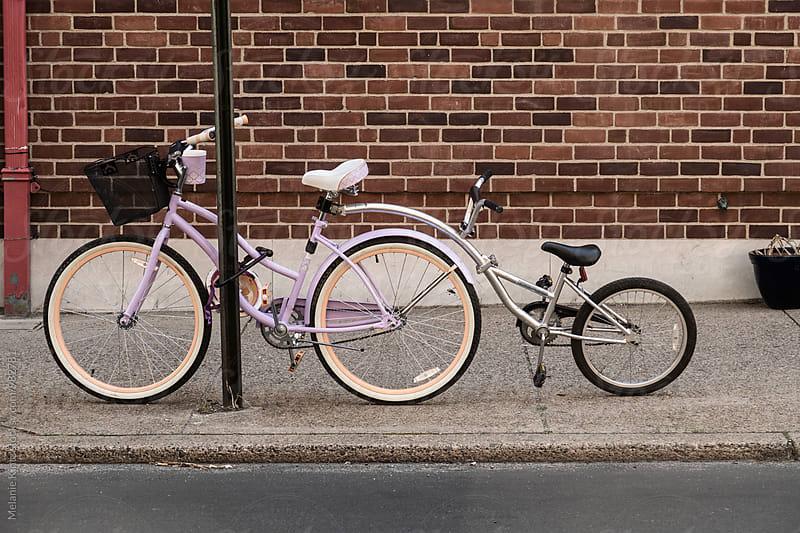 Bicycle with tandem bike attachment by Melanie Kintz for Stocksy United