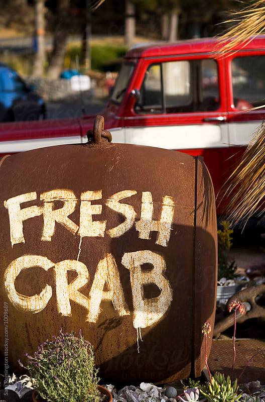 Fresh Crab Sign by Sara Remington for Stocksy United