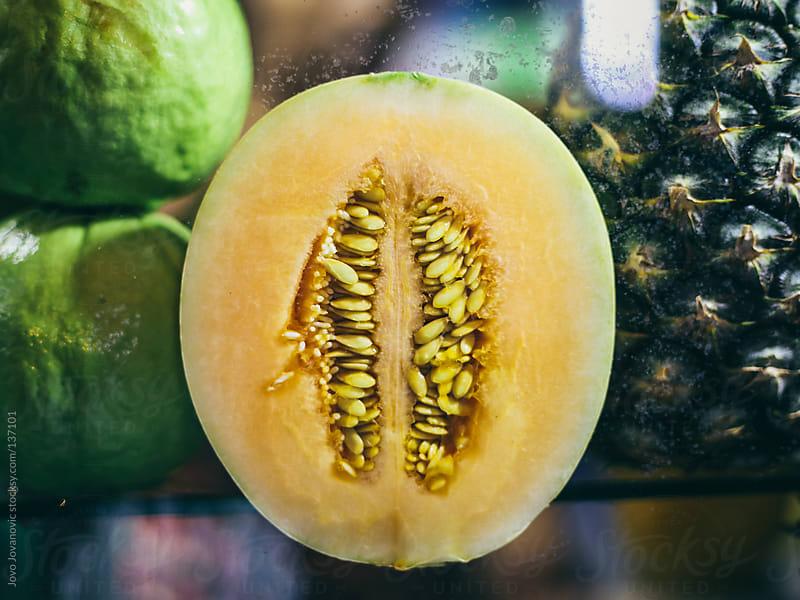 Melon at the local market. by Jovo Jovanovic for Stocksy United