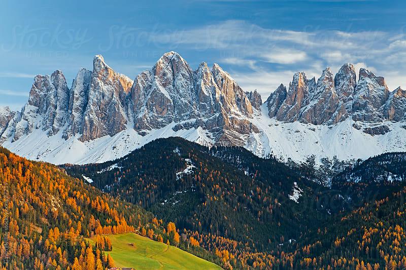 Mountains, Geisler Gruppe/ Geislerspitzen, Dolomites, Trentino-Alto Adige, Italy, Europe by Gavin Hellier for Stocksy United